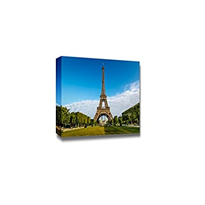 Canvas Prints Wall Art - Eiffel Tower and Champ De Mars in Paris, France | Modern Wall Decor/Home Art Stretched Gallery Canvas Wraps Giclee Print & Ready to Hang - 16