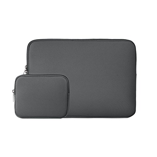 RAINYEAR 11-11.6 Inch Laptop Sleeve Padded Bag Slim Computer Case Cover With Small Case for Charger/Mouse,for 11 MacBook Air/Notebook/Ultrabook/Tablet/Chromebook of Dell HP ThinkPad Lenovo Asus(Gray) (Asus Chassis)