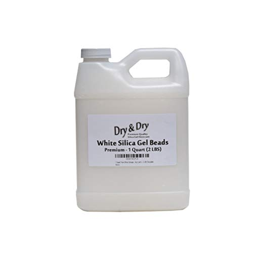 Dry & Dry 1 Quart Pure White Silica Gel Desiccant Beads - 2 LBS Reusable