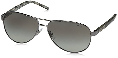 Ralph by Ralph Lauren RA 4004 Sunglasses (Gun Metal/Grey - 59 Ralphs