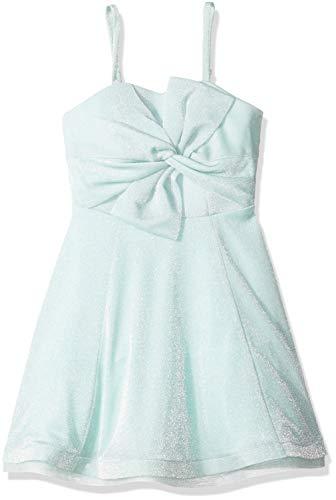 (Amy Byer Girls' Big Sequin Bodice Maxi Dress, Mint 7)