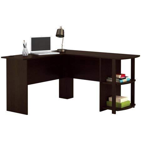 Ameriwood Home Dakota Space Saving L Desk with Hutch, Dark Russet Cherry (Dark Russet Cherry) ()