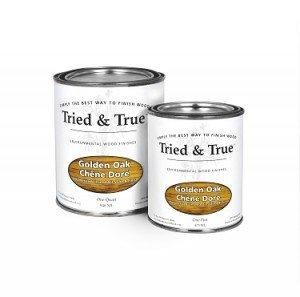 Tried and True Wood Stain- 100% solvent free, zero VOC, and safe for food and skin contact (Quart, Golden Oak)