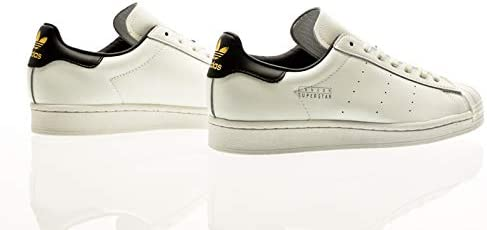 adidas Originals Superstar Pure, Footwear White-Core Black-Gold Metallic, 8,5
