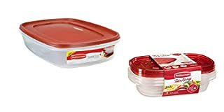 Rubbermaid Easy Find Lid Food Storage Container, BPA-Free Plastic, 1-1/2 Gal plus 3 Take Alongs - 3.7 Cups Divided Rectangle + Lids 8 piece set! (B01A8YBQBE) | Amazon price tracker / tracking, Amazon price history charts, Amazon price watches, Amazon price drop alerts