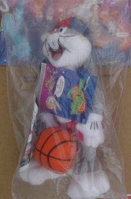 Bugs Bunny Space Jam Plush From McDonald`s Kid`s Meal Unopened Package 1996