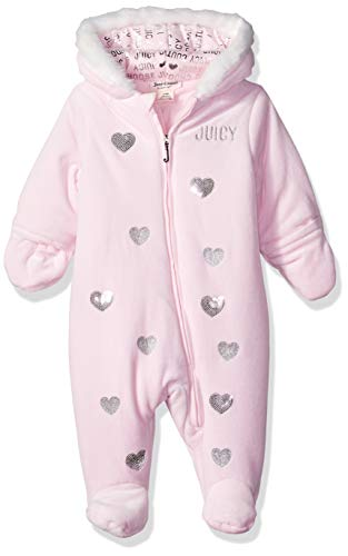 Juicy Coat - Juicy Couture Baby Girls Pram, Pink 0-3 Months