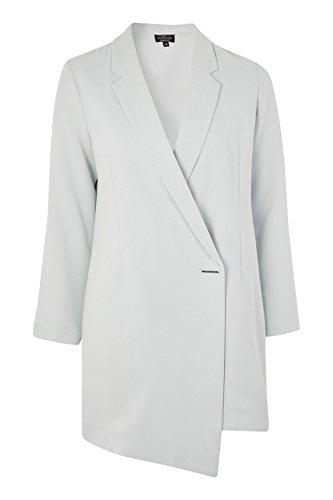 Anastasia - Chaqueta resorte de las señoras de línea larga chaqueta de vestir Menta