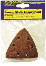 EAZYPOWER 50601 OSCILLATING EMERY CLOTH SANDING PAD,3-1/8 IN., ASSORTED GRIT, 12 PER PACK (6 PACKS)