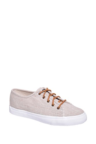 Sperry Top-Sider Women's Seacoast Linen Fashion Sneaker, Natural, 7.5 M - Fashion Linen