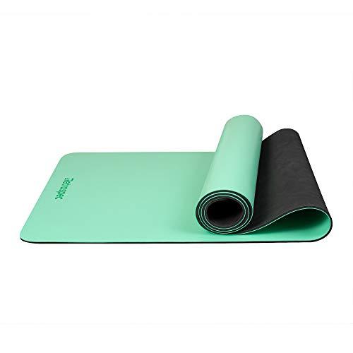 Retrospec Laguna Yoga Mat w/Nylon Strap for Men & Women - Non Slip Excercise Mat for Yoga, Pilates, Stretching, Floor & Fitness Workouts (Best Hot Yoga Mat 2019)