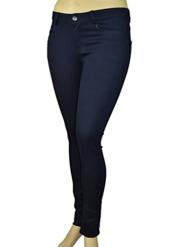 Alfa Global Womens Plus Size Skinny Stretch Denim Washed Pants