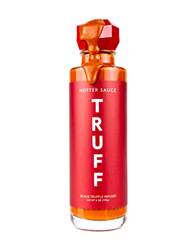 TRUFF Hotter Sauce, Gourmet Hot Sauce with Jalapeño, Red Chili Peppers with More Heat, Black Truffle Oil, Organic Agave Nectar, Hotter Flavor Experience in a Bottle, 6 oz.