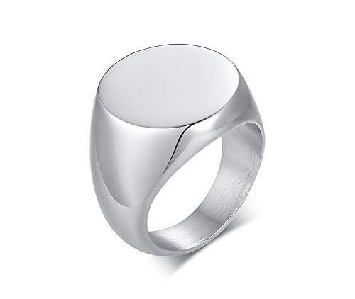 VNOX Stainless Steel Cremation Jewelry for Ashes Holder Cremation Urn Finger Signet Ring Ashes Ring Memorial Jewelry,Size 11