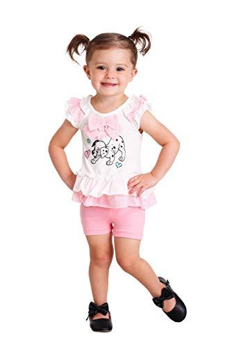 Disney Girls' 2 Piece 101 Dalmations Bike Short Set, White, 24m ()