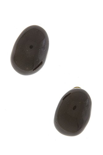 KARMAS CANVAS JELLY BEAN EARRINGS (Brown)