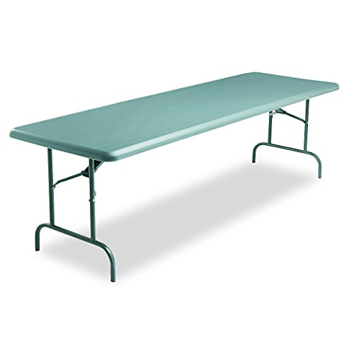 Iceberg ICE65237 IndestrucTable TOO 1200 Series Steel Legs Plastic Folding Table, 1200 lbs Capacity, 96