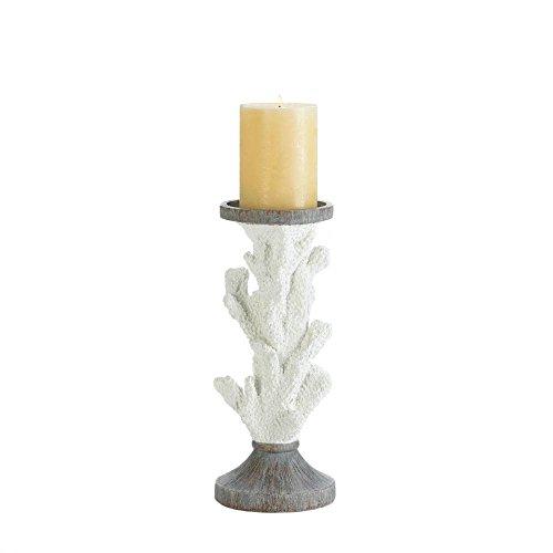 Holder Coral Candle Pillar - Candle Pillar Holder, Modern White Pedestal Candle Holder Pillar Candles