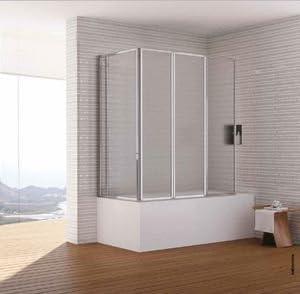Mampara para bañera Diana compuesto de cuatro paneles (acrílico, altura 140 cm: Amazon.es: Bricolaje y herramientas