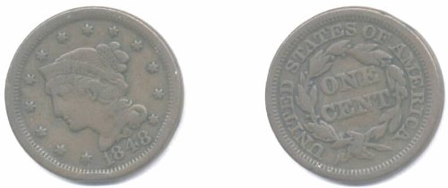 1848 Braided Hair Large Cent
