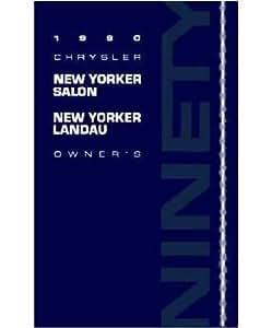 1990 chrysler new yorker salon landau owners for 1990 chrysler new yorker salon
