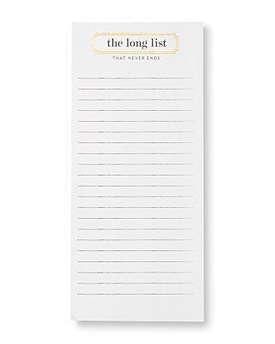 Gold Foil 'Long List' Magnetic (Long Notepad)