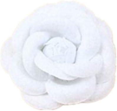 Blanc SUNSKYOO Femme Broches en Tissu Cam/élia Broches Fleur Craft Party Accessoires de Corsage