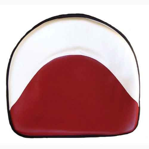 Pan Seat 21'' Deluxe Cushion Vinyl White & Red Ford 2610 6600 4110 3000 2310 4130 7600 5000 8N 4600 2600 4100 2120 2110 4140 4000 5600 2000 3600 International M 400 350 Massey Ferguson 50 35 30 135 by All States Ag Parts