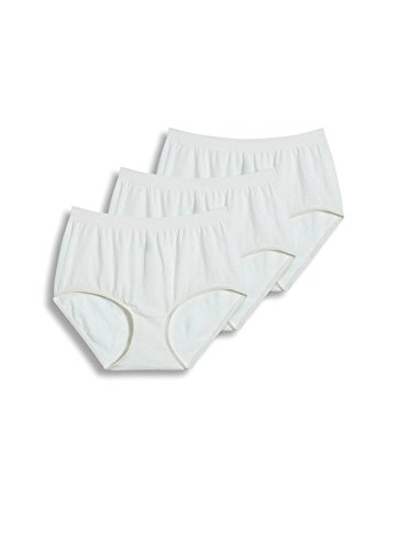 (Jockey Women's Underwear Comfies Cotton Brief - 3 Pack, Ivory, 9)