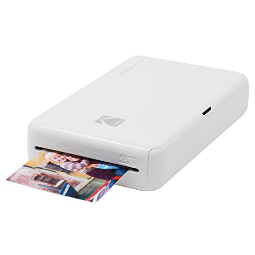 Kodak Mini 2 HD Wireless Mobile Instant Photo Printer w/4PASS Patented Printing Technology – Compatible w/iOS & Android Devices - White
