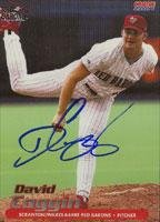 David Coggin Scranton/W-B Red Barons - Phillies Affiliate 2001 Choice Autographed Card - Minor League Card. This item comes with a certificate of authenticity from Autograph-Sports. Autographed