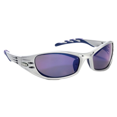 (3M Fuel Protective Eyewear, 11641-00000-10 Blue Mirror Lens, Silver Frame  (Pack of 1))