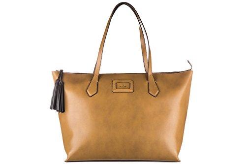 con Hogan piel para largas compras bolsos marrón en nuevo mujer asas Pww15RWnq
