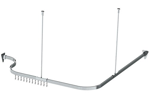 Bendable Shower Curtain Rod Curve Arch Custom Corner or any Free-Form you desire 10 feet long, Chrome Finish