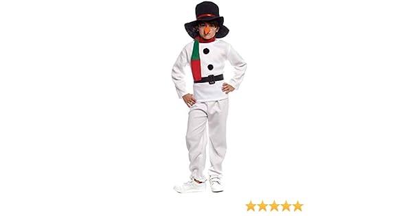 Disfraz Muñeco de nieve Infantil para Navidad 2-4 años: Amazon.es ...