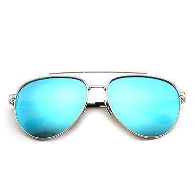 FeliciaJuan Ultra Lightweight Oval Small Metal Polarized Sunglasses 100% UV Protection