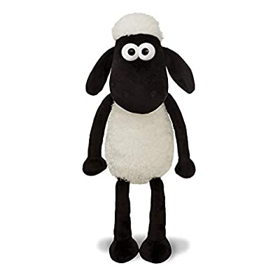 Shaun the Sheep 61174 Cuddly Plush Toy, Black and White, 12in, Suitable for Adults and Kids: Toys & Games