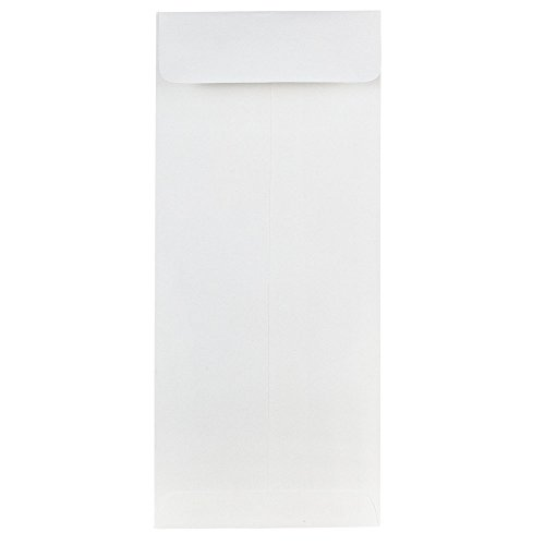 JAM Paper #10 Open End Policy Envelope - 4 1/8'' x 9 1/2'' - Strathmore Bright White Wove - 50/pack by JAM Paper