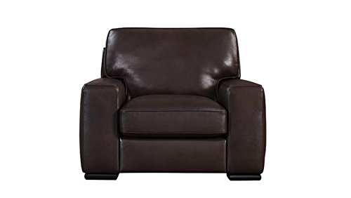 Natuzzi Editions Matera Collection Brown Leather Stationary Chair ()