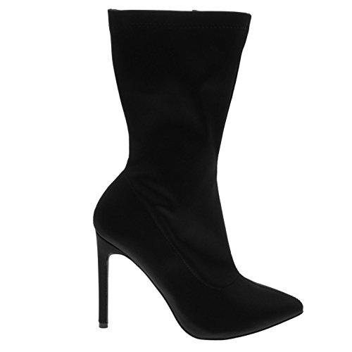 tacón mujer botines calcetín Suri negro de Firetrap wvqX64q