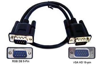 d sub 15 pin vga to db 9 pin rgb adapter cable 15-Pin VGA Cable Diagram