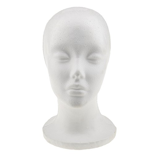 MonkeyJack 27cm Height Dummy Mannequin Head Female Exhibitor Display Stand for Wig Hat Headphone - Sunglasses Exhibitor