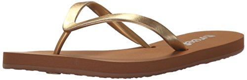 Reef Women's Stargazer Shine Sandal, Gold, 6 M (Brushed Gold Footwear)
