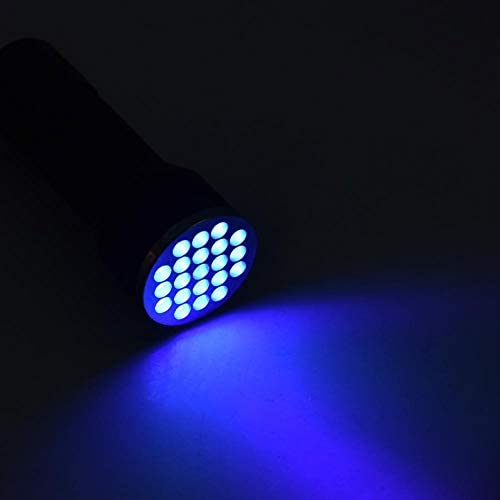 ,Purple Light Line,Curing Adhesive,Outdoor Activities,etc Invisible Ink Pomya 24 Lamp Beads LED Flashlight,UV Glue Curing Ultra Violet Light for Fluorescent Ink