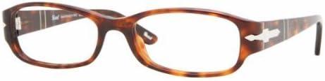24 Eyeglasses Brown Havana Frame 52mm w//Clear Demo Lens Persol 2899v