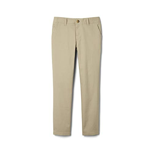 French Toast Big Girls' Straight Leg Pant, Khaki, 12 (Dennis School Uniforms)