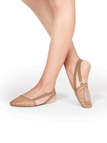 Lyrical Jazz Dance - Leather Dance Half Sole,T8970TANM,Tan,Medium