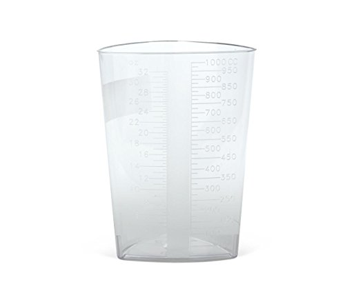 Medline DYND80416 Graduated Triangular Intake/Output Containers, Clear, 32 oz (Pack of (Output Containers)