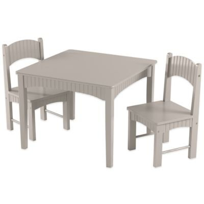 Tree House Lane Table and 2 Chairs Set in Grey by Tree House Lane