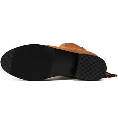Chelsea Plates Zipper Femmes Coolcept Marron Boots Chaussures 5AqOnwvSn